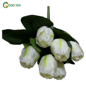 Artificial Flower Bush Tulip with 7heads