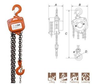 0.5ton to 50ton High Quality Chain Hoist with CE & GS Certificate (VC-A 312) pictures & photos