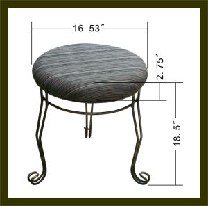Upholstered Metal Frame Swivel Stool pictures & photos