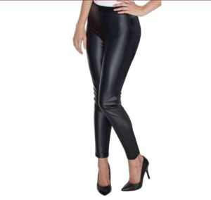 2017 Women′s Fitted PU Legging with Leather Look pictures & photos