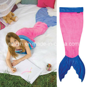 Mermaid Tail Double Flannel Sleeping Bag for Children Baby Blanket