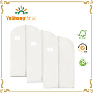 White Non-Woven Garment Suit Bag/Suit Dust Cover with Cheap Price pictures & photos
