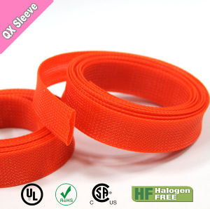 20mm Flame Retardant Pet Braided Expandable Sleeving for Wire Harness pictures & photos