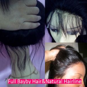 Fashion Virgin Brazilian Human Hair Wigs Full Lace Wig with Pre-Plucked Baby Hair pictures & photos