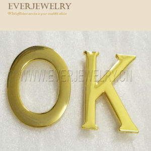 Gold Letters Metal Plates Brand Logos pictures & photos
