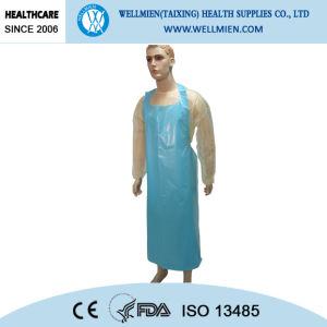 Surgery Plastic Disposable PE Aprons, HDPE Aprons pictures & photos