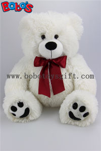 White Stuffed Bear Animal Plush Teddy Bear Toy with Re Ribbon as Nice Gift pictures & photos