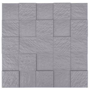 Grey FRP Tile Look 3D Waterproof Wall Panel