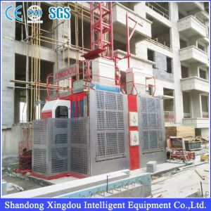 Frequency Inverter MID Speed 63m/Min Building Hoist for Construction Site pictures & photos