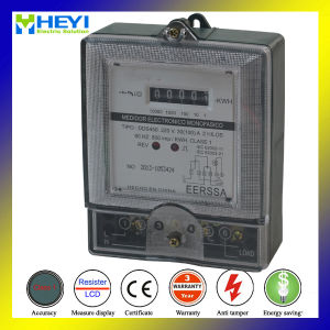 Single Phase Kwh Meter Single Phase Three Wire Transparent Cover pictures & photos