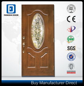 Decorative Glass Inserted Fiberglass Front Villa Door pictures & photos