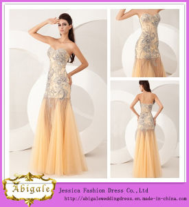 2014 New Arrival Floor Length A-Line Sweetheart Neckline See Through Skirt Ladies Long Evening Party Wear Gown (WD54)