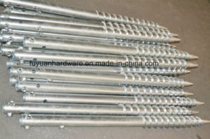 Steel Green Fence Used Galvanized Ground Screw pictures & photos