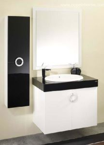Lacquer White Bathroom Cabinet (OP-W1131)