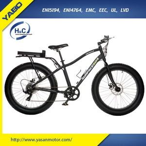 Fat Electric Bike, Fat Tire Bike 500W, 48V 500W MTB Beach Bike