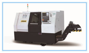 Easy Operation Slanting CNC Lathe with Auto Bar Feeder pictures & photos