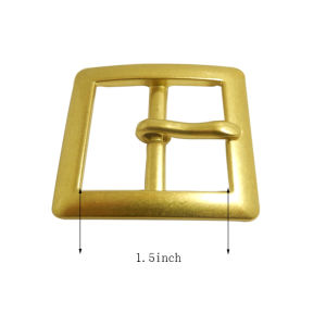 1.5inch Gold Custom Metal Bag Buckle, Belt Pin Buckle pictures & photos