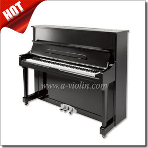 Black Polished Acoustic Upright Piano/88 Keys Silent Piano (AUP-121T) pictures & photos