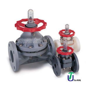 UPVC CPVC PVDF PP Diaphragm Flanged Valves ANSI DIN JIS pictures & photos