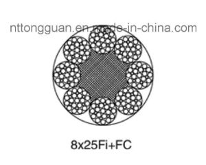 Ungalvanized Elevator / Lifting Steel Wire Rope8X25fi+FC Hot Sell pictures & photos