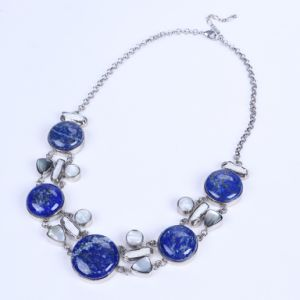 New Design Lapis Lazuli Alloy Necklace pictures & photos