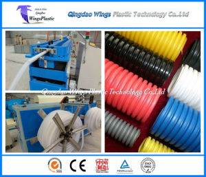 Plastic PE PP PA PVC Single Wall Corrugated Pipe Machine Made in China pictures & photos
