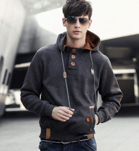 Custom New Model Long Sleeves Good Quality Men′s Hoodie with Pockets