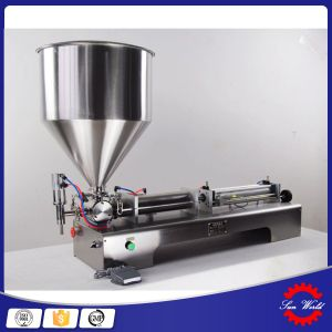 Double-Nozzle Semi Automatic Filling Machine Cream Paste Filler pictures & photos