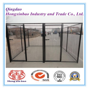 Black Color Powder or PVC Coating Outdoor Dog Cage pictures & photos