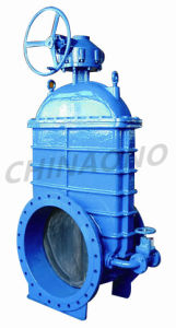 Large Diameter Rubber Sealed Flange Type Cast Steel Gate Valve pictures & photos