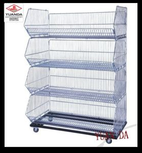 Supermarket Foldable Display Basket Cage pictures & photos
