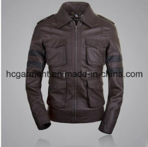 Motorcycle Suit, Men′s Safety Waterproof PU Leather Jacket pictures & photos