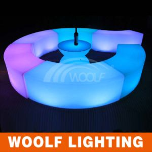 Rechargeable LED Color Changing Illuminated Curve Beach Chair pictures & photos