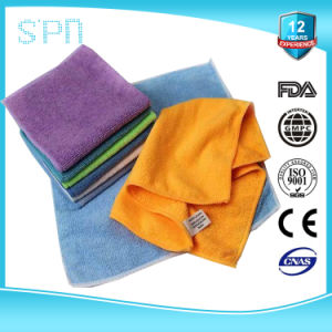 High Absorbent Solution Cleaning Split Microfiber Towel pictures & photos