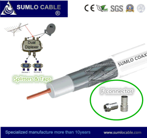 TV Coax Cable for Satellite, RoHS, Ce, ISO9002 Complianced pictures & photos