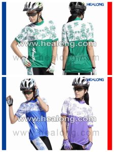 Healong Fashion Sweat-Absorption and UV-Protective Customized Sublimation Cycling Jersey pictures & photos