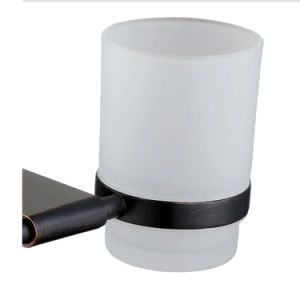 Oil Rubber Brushed Bathroom Accessories Double Tumbler Holder pictures & photos