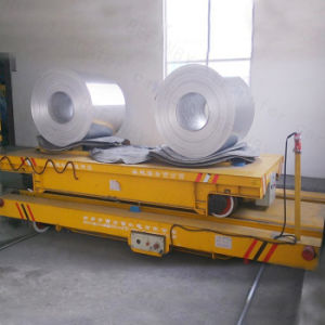 Heavy Load Rail Electric Transport Cart for Aluminium Panel Factory pictures & photos