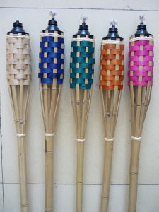 Citronella Bamboo Tiki Torch for Outdoor Parties (FT8001)