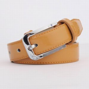 Real Leather Fashion Belt Lady′s Shiny Belt (RS-13026C) pictures & photos
