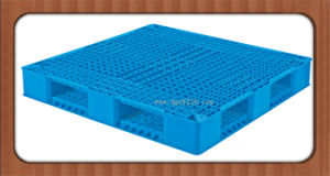 China Quality Reversible Grid Plastic Packaging Pallet for Shelf Supplier pictures & photos