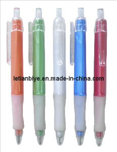 Triangle Barrel Rubber Grip Plastic Ballpoint Pen (LT-C474) pictures & photos