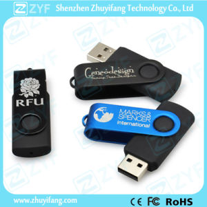 Ce Approved Swivel USB Flash Drive for Promotional Gift (ZYF1238)