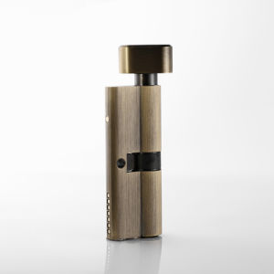 80mm European Style Key Cylinder with Thumbturn Polished Brass Finish pictures & photos