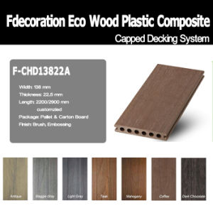Wood Textured Plastic Wood Capped WPC Composite Decking pictures & photos