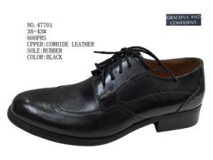 No. 47701 Black Color Stock Men Shoes pictures & photos