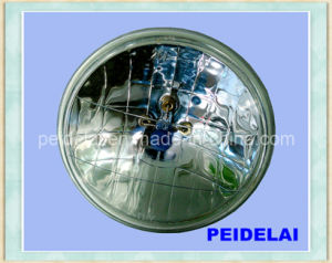 12V or 24V 7 Inch Round Crystal Black Semi Sealed Beam pictures & photos
