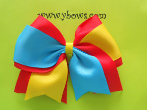 Red Blue Yellow Mixed Color Hair Bows