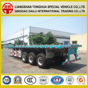 Wholesale 3 Axles 40FT Flatbed Container Semi-Trailer pictures & photos
