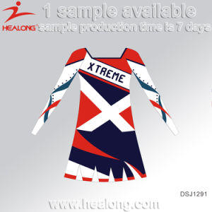 Healong Fashion Design Sportswear Sublimation Printing Cheerleading Uniform pictures & photos